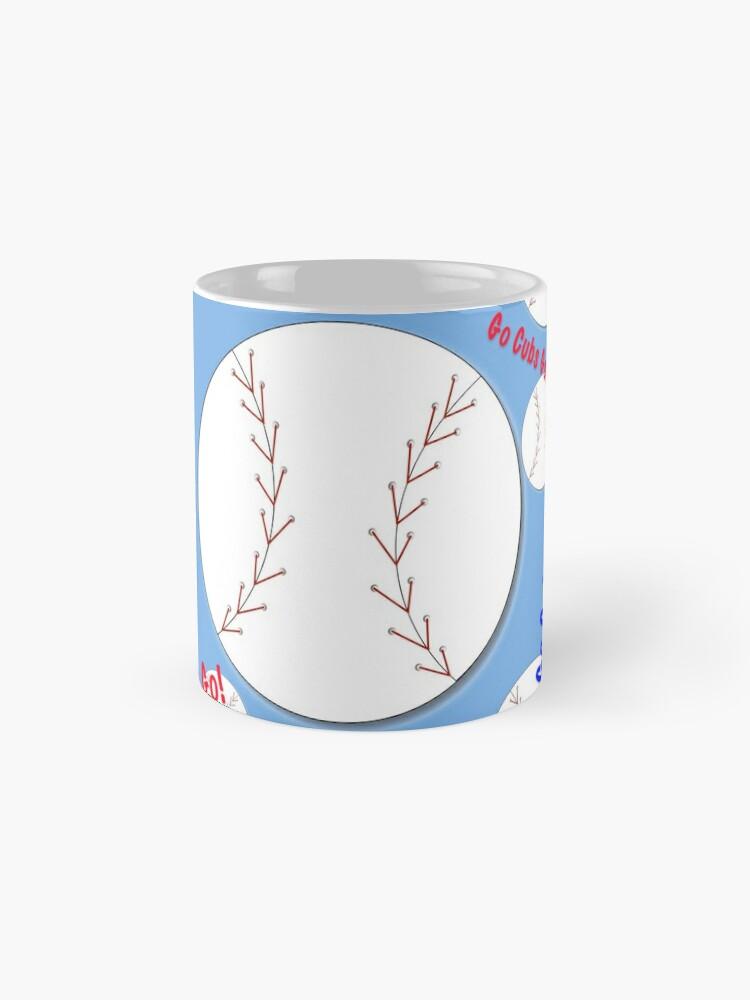 Alternative Ansicht von Go Cubs gehen! Baseball Tasse