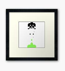 Pixelart Space War Framed Print
