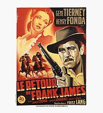 Retour Frank James / 327595 Photographic Print