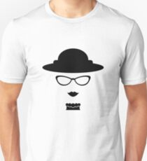 Vintage lady with eyeglasses drawing Unisex T-Shirt