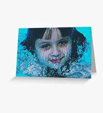 THAWING CHILD Greeting Card