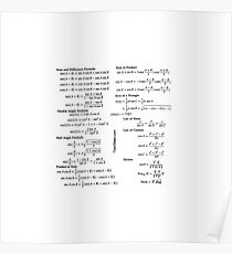 Math, mathematics, trigonometry, education, school, academy, formulae, formulas, formula Poster
