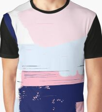 Modern Abstract Brush Stroke Art Graphic T-Shirt