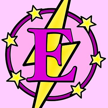 Cute Superhero Girl Super Letter E - Pink and Purple by AMagicalJourney