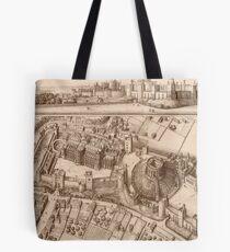 Vintage Pictorial Map of Windsor Castle (1677) Tote Bag