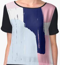 Modern Abstract Brush Stroke Art Chiffon Top