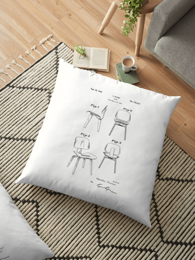 Mid Century Eames Patent Drawings for DCW Molded Plywood Chair ...