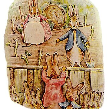Peter Rabbit, Benjamin and Flopsy Bunny, Beatrix Potter by TOMSREDBUBBLE