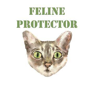 Feline Protector by HeartZenMinds