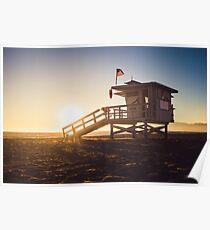 Sunset at Venice Beach Poster