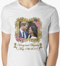 Prince Harry and Meghan Markle Men's V-Neck T-Shirt