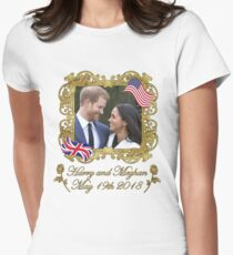 Prince Harry and Meghan Markle Women's Fitted T-Shirt