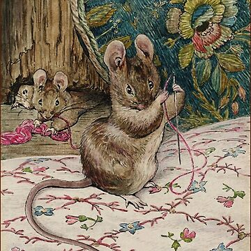 The Mice at Work.Threading the Needle. Beatrix Potter by TOMSREDBUBBLE