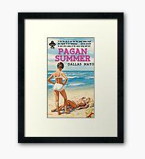 Pagan Summer (sexy pulp fiction novel cover) Framed Print