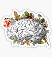 Brain with Flowers Sticker