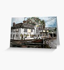 George and Dragon Pub and Restaurant England painting print Greeting Card