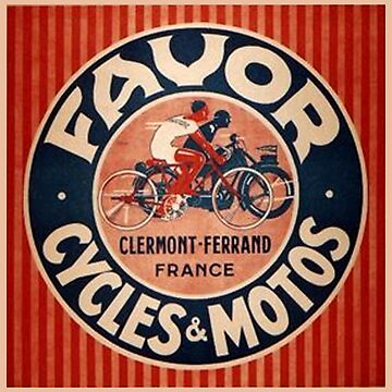 FAVOR, Cycles & Motors, French Advertising Sign by TOMSREDBUBBLE