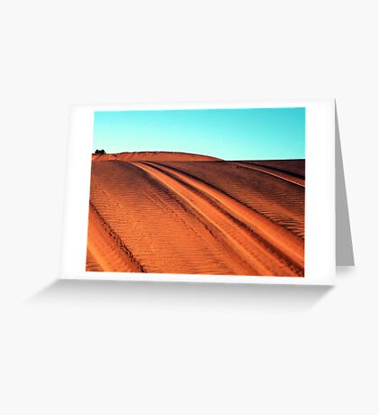 Tracks of time Greeting Card