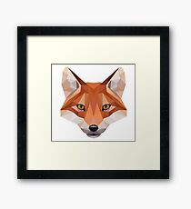 Wild and Free Fox  (white background) Framed Print