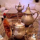 Tea Service, Marrakesh, Morocco by Robert La Bua
