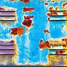 Rusty and peeling metal by Silvia Ganora