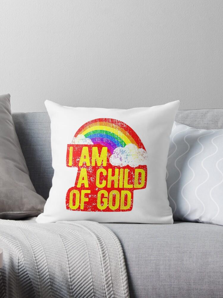 Cojines «Soy un niño de dios Jesús me ama Gráfico Mormón de LDS Tee ...