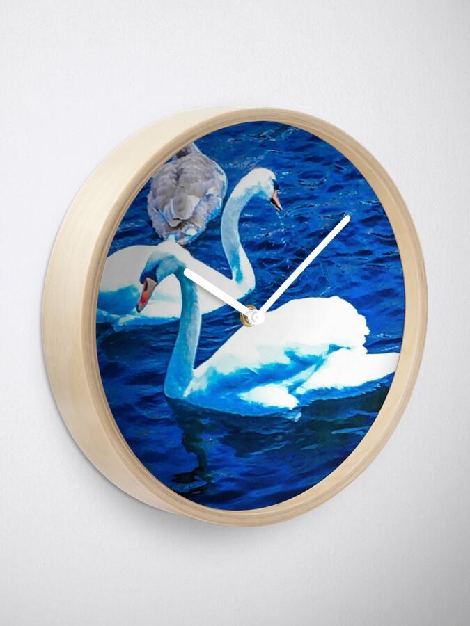 Alternative Ansicht von Schwäne Uhr