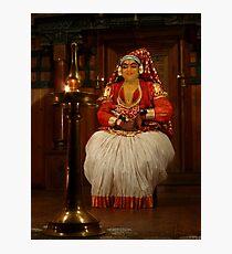 The Character Minukku (Kathakali), Kerala, India Photographic Print