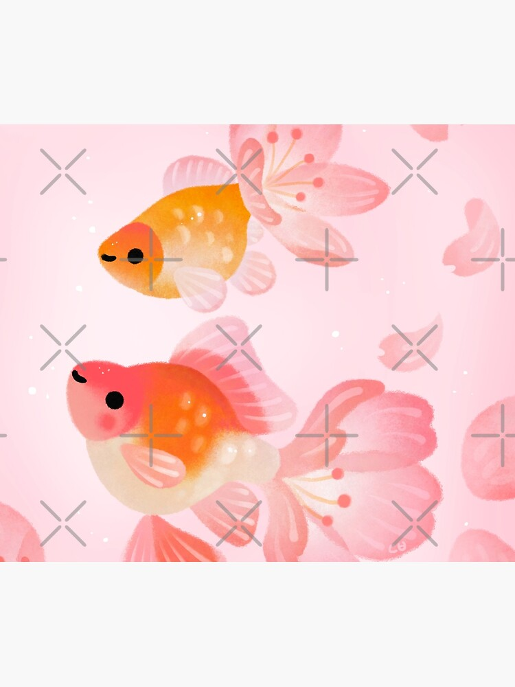 Cherry blossom goldfish 1 by pikaole