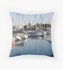 Harbour of Desenzano of Garda Lake Throw Pillow