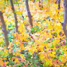 Colorful Forest Abstract by Bo Insogna