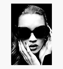 Kate Moss Black and White Fashion Model Photography Photographic Print