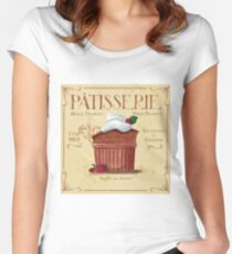 French Patisserie Art, Chocolate Souffle Women's Fitted Scoop T-Shirt