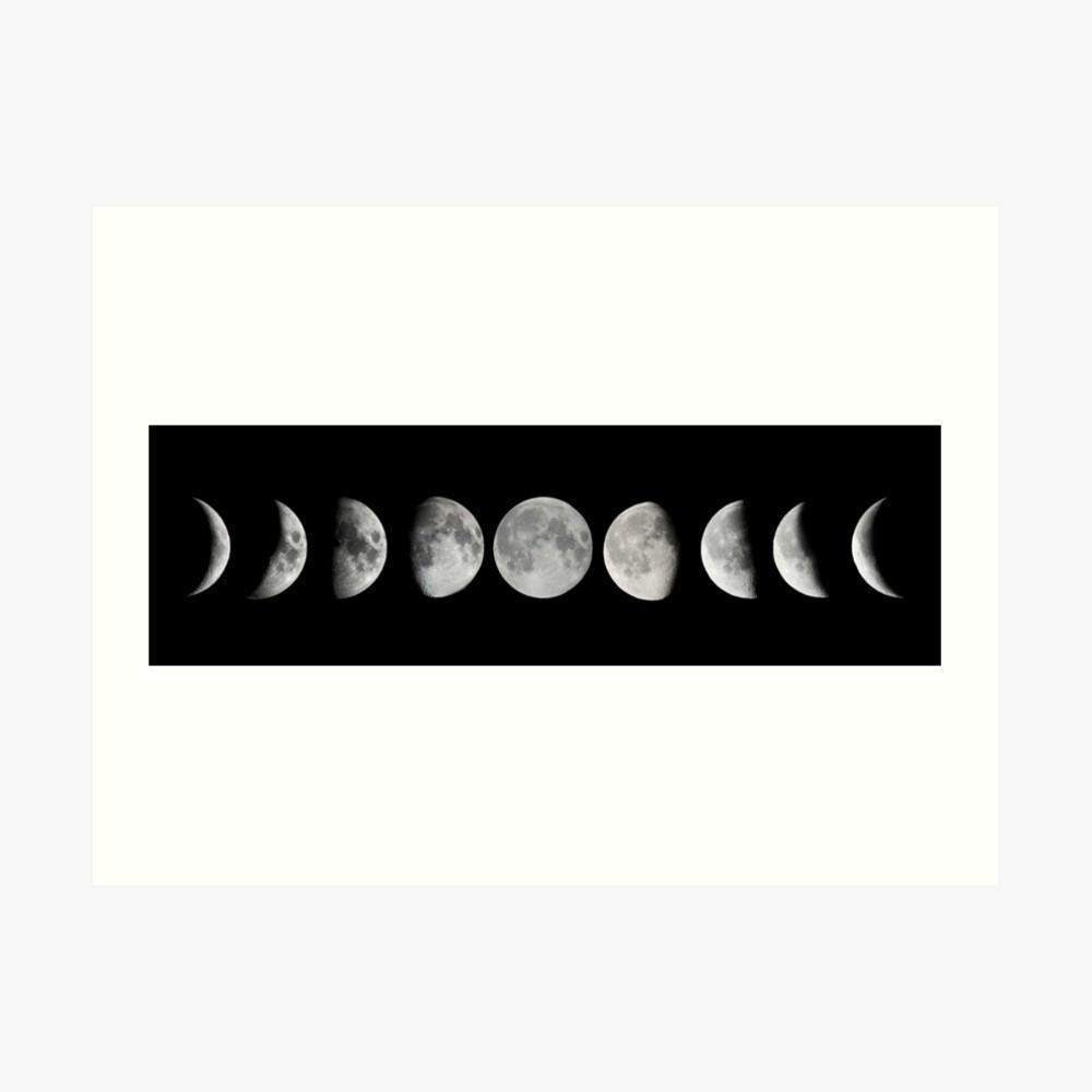 Mondphasen Kunstdruck