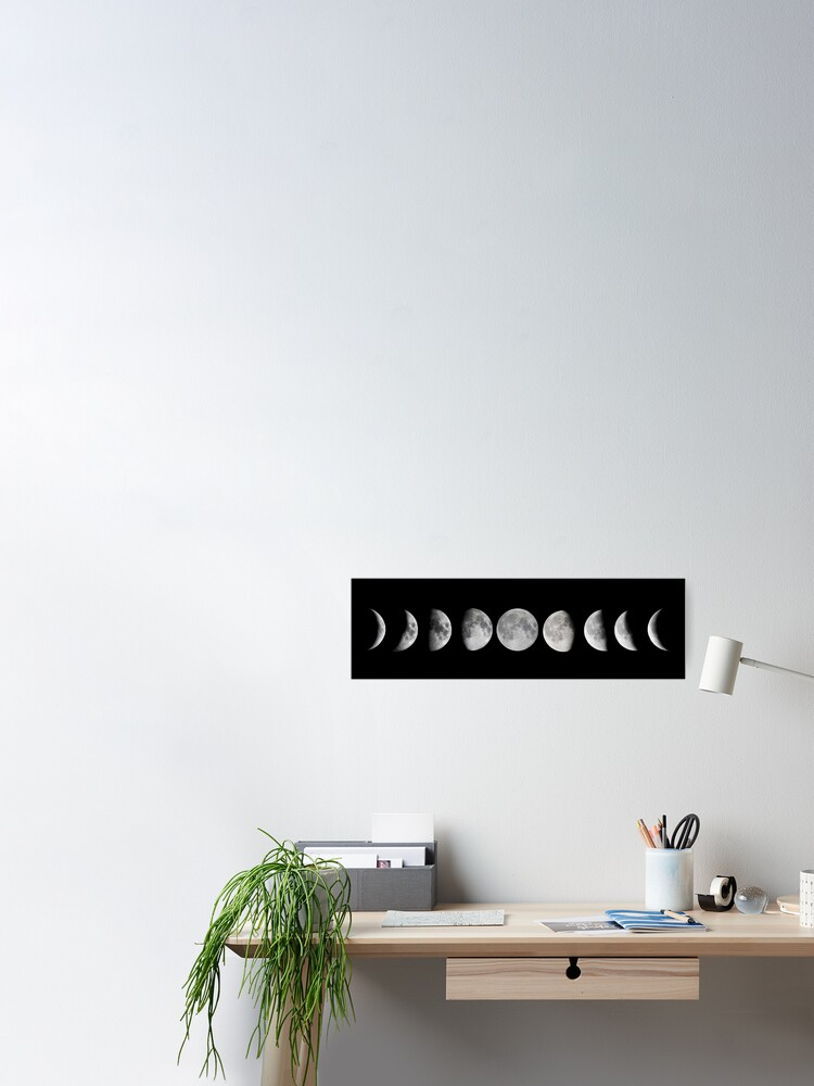 Alternate view of Moon phases Poster
