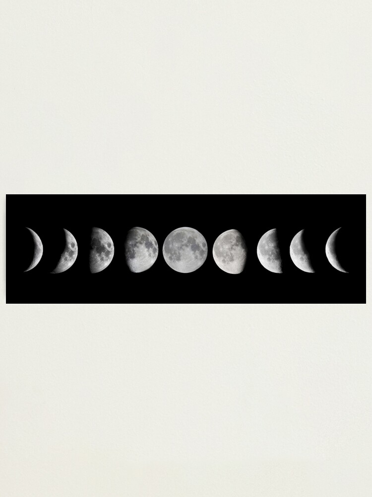 Alternate view of Moon phases Photographic Print