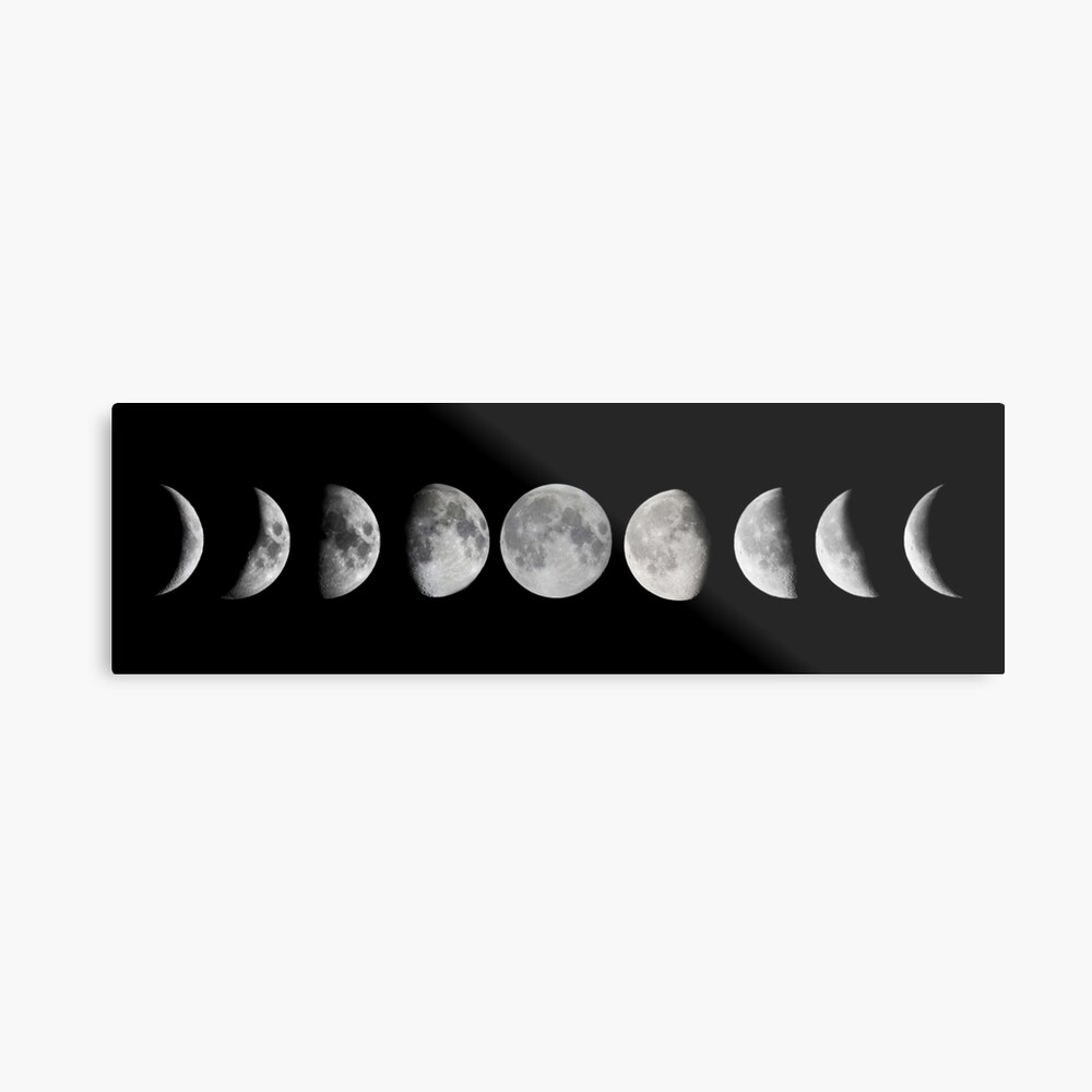 Mondphasen Metalldruck