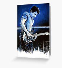 John Mayer Blues Greeting Card