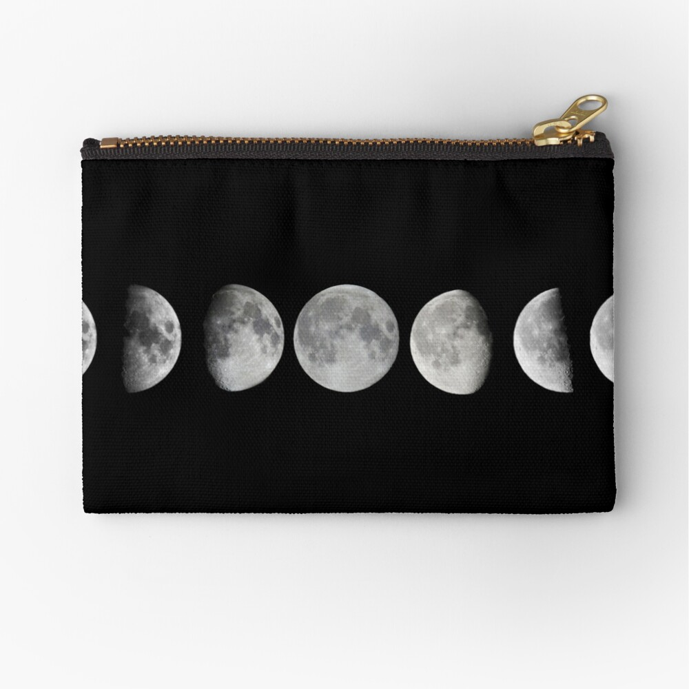 Moon phases Zipper Pouch