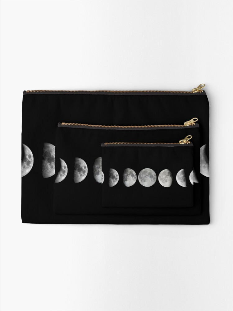 Alternate view of Moon phases Zipper Pouch