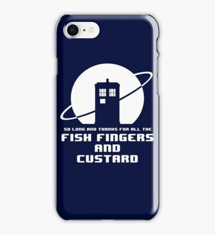 Fish Fingers and Custard White iPhone Case/Skin