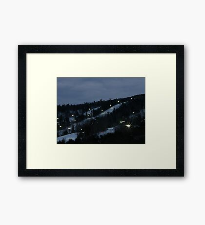Night Skiing Framed Print