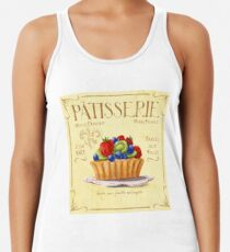 French Patisserie Art, Fruit Tart Women's Tank Top