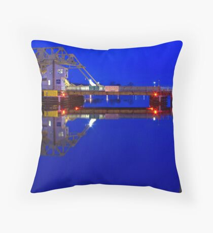 Mystic River Bridge at Dawn Throw Pillow