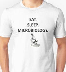 eat sleep microbiology Unisex T-Shirt