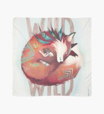 Wild Fox - le renard et la fille - illustration Foulard