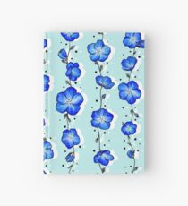 Baby Blue Wildflower Hardcover Journal