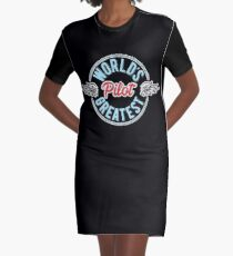 World's Greatest Pilot Graphic T-Shirt Dress