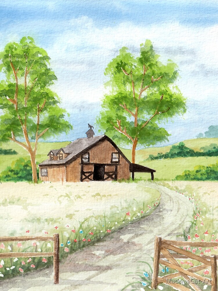 Country landscape by MadameCat-Art
