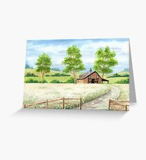 Country landscape Greeting Card